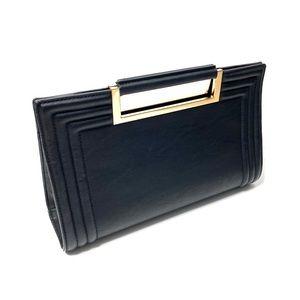 Melie Bianco Bags - Melie Bianco Vegan Leather Rectangular Black Bag
